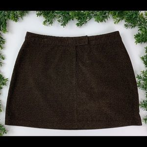 Vintage Chocolate Brown Express Mini Skirt | 13/14